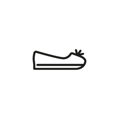 Flat shoe line icon. Ballet, ballerina, sleeper. Footwear concept. Can be used for topics like shoe store, casual style, summer outfit