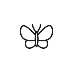 Silkworm line icon. Symbol, silk, butterfly. Fabric features concept. Can be used for topics like textile, label, clothing, insects