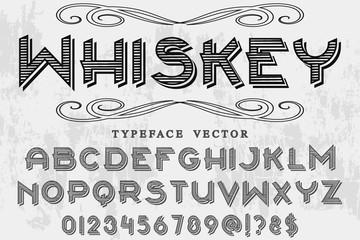 Vector illustration,font script typeface vector