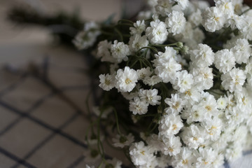 White meadow flowers.