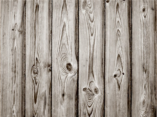 Grey wood plank texture for background. Vector