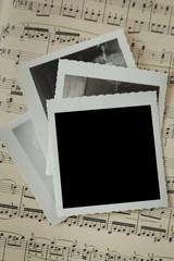 Vintage Photo Mockup on Sheet Music