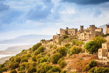 Tower houses in Vathia Greece Mani Peninsula
