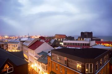 View of buildings in city against sky