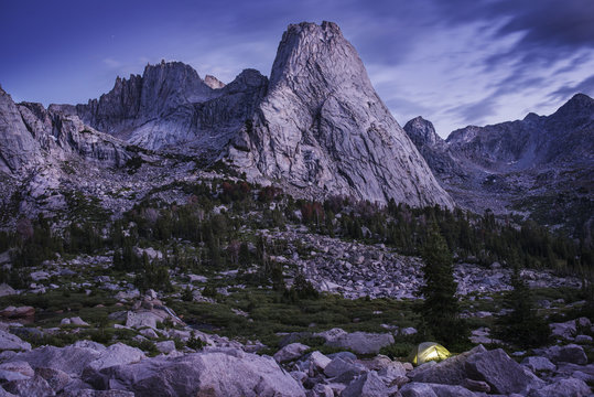 Scenic view of mountains, Wind River Range, Wyoming, USA