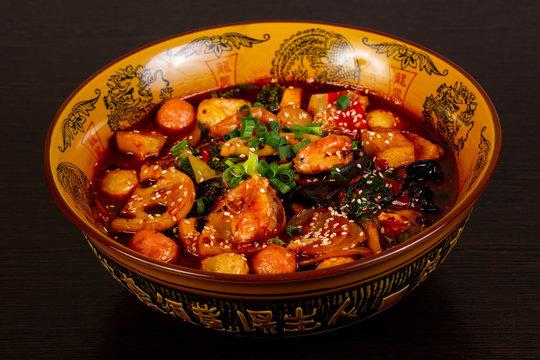 Chinese Mala Tang soup