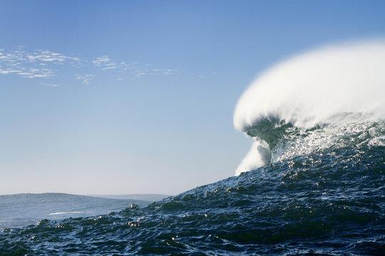 View of wave splashing in sea