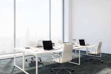 Manager office interior, white walls