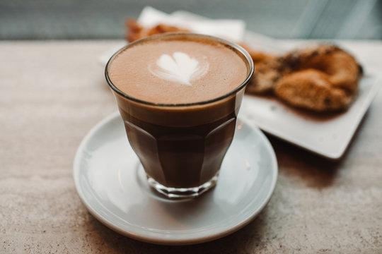 Fat white coffee