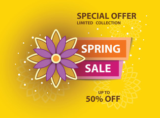 Spring yellow sale poster