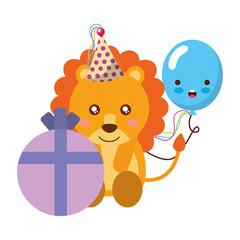 cute lion gift balloon kawaii birthday