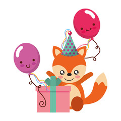 cute fox gift balloon kawaii birthday