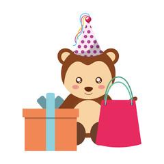 cute monkey gift and bag kawaii birthday
