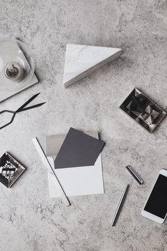Open Envelope on Office Table