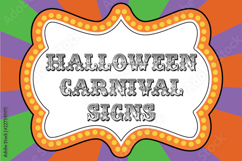 halloween carnival sign template stock image and royalty free