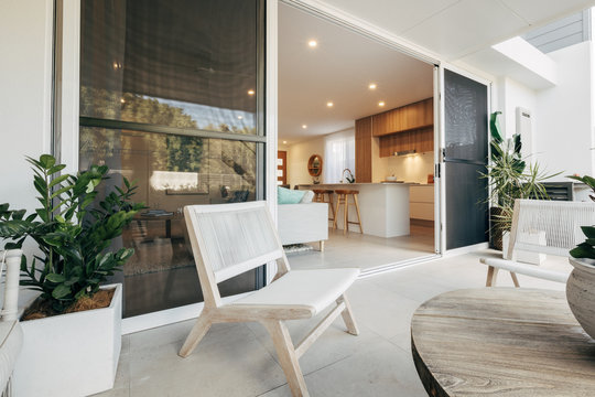 Modern Apartment Style Terrace by Day