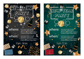 Christmas 2018 Party invitation card for your design.