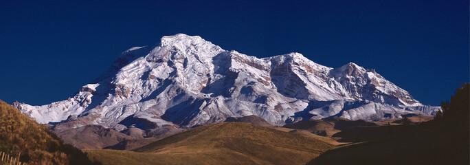 Wall Murals Deep brown Panoramic of the Chimborazo