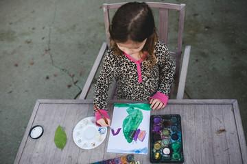 Painting a fairy house