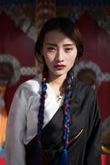 Beautiful Tibetan Young Woman