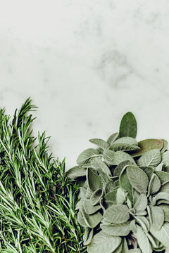 Sage and rosemary bouquet
