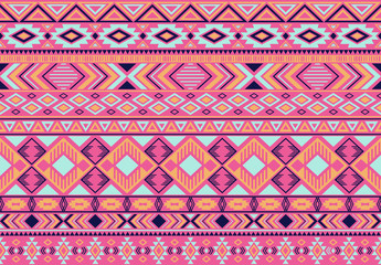 Indonesian pattern tribal ethnic motifs geometric seamless vector background. Graphic indonesian tribal motifs clothing fabric textile print traditional design with triangle and rhombus shapes.