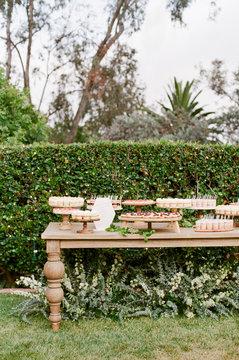 Romantic Garden Wedding Dessert Table