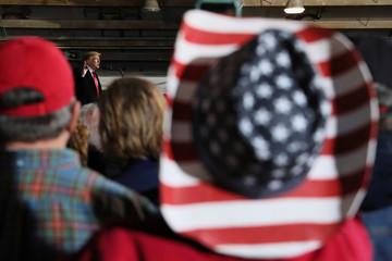 President Trump rallies with supporters in Lebanon Ohio