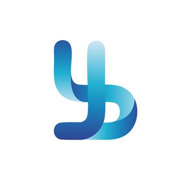 color Letter Y B  logo