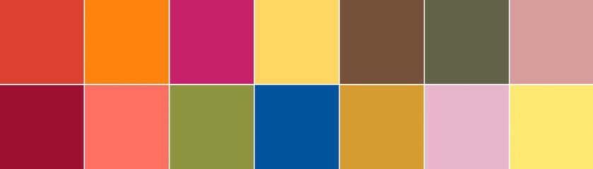 Top 14 Pantone colors of the season spring summer 2019 palette. Pantone NY and London Fashion Week Colors