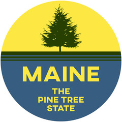 maine: the pine tree state | digital badge