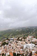 Taormina arial, Sicily
