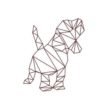 polygonal cute dog vector