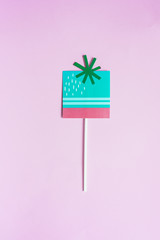 gift on a stick