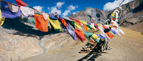 Kiupa La pass prayer flags