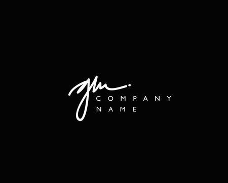 G M Initial handwriting logo