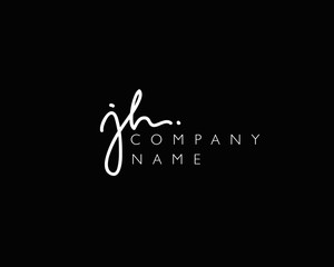 J H Initial handwriting logo