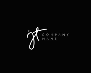 J T Initial handwriting logo