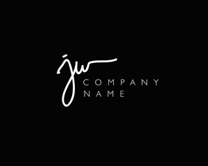 J W Initial handwriting logo