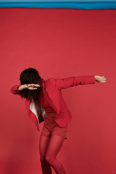 Contemporary dance of red lover