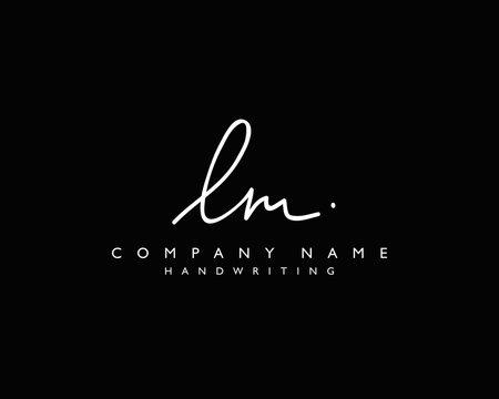 L M Initial handwriting logo