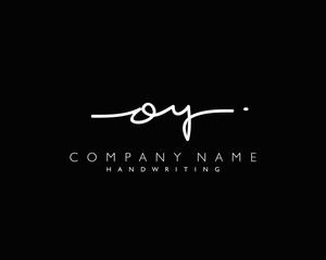 O Y Initial handwriting logo
