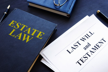 Estate law, last will and testament in a court.