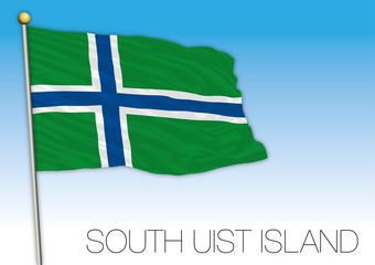 South Uist Island flag, United Kingdom, vector illustration