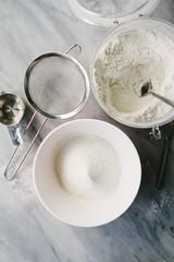 Ingredients for making Angel Wings pastries