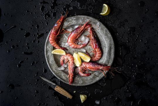 Fresh Red Shrimps