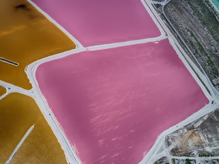 Colored water of tropical lakes