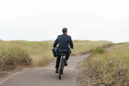 Businessman on Winding Path
