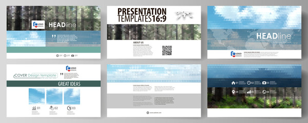 The minimal vector illustration of editable layout. Modern creative covers design templates for trifold square brochure or flyer.