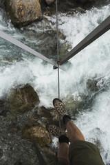 First POV of Wire Bridge Crossing
